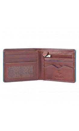 Коричневый мужской кошелек Visconti ALP85 Ozwald с RFID (Italian Brown)