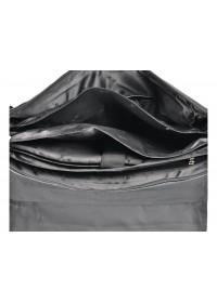 Кожаный черный портфель для мужчин HT P2880-1 BLACK