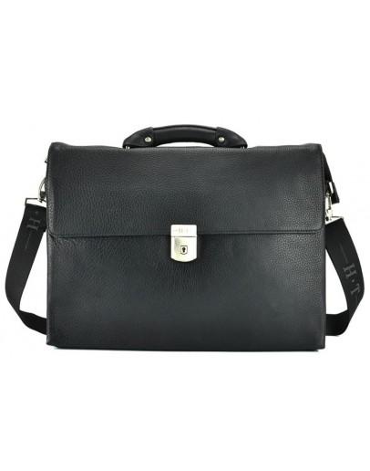Фотография Кожаный черный портфель для мужчин HT P2880-1 BLACK
