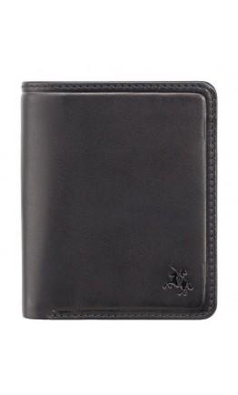 Небольшой мужской кошелек Visconti PLR70 Piana c RFID (Black-Steel Blue)