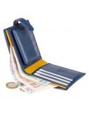 Фотография Синий кошелек Visconti PM100 Vincent c RFID (Blue Mustard)