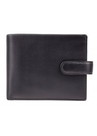 Черный удобный кошелек Visconti PM102 Leonardo c RFID (Black Blue)