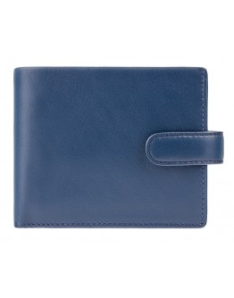 Синий кожаный кошелек Visconti PM102 Leonardo c RFID (Blue Mustard)