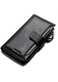 Черный мужской кожаный клатч QB102