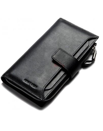 Фотография Черный мужской кожаный клатч QB102