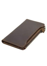 Коричневое мужское кожаное портмоне R-8168R