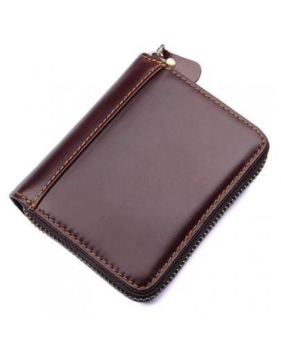 Фотография Коричневый мужской кошелёк, кожаный R-8887Q-2