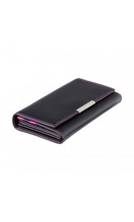 Черное женское портмоне Visconti R11 Paloma c RFID (Black Berry)