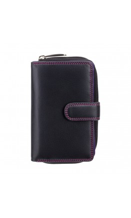 Черный кошелек женский Visconti R13 Carmelo c RFID (Black Berry)