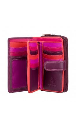 Кошелек сливового цвета Visconti R13 Carmelo c RFID (Plum Multi)