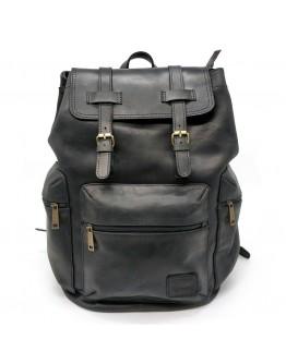 Большой черный кожаный мужской рюкзак Tarwa RA-0010-4lx