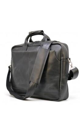 Кожаная черная деловая сумка для ноутбука Tarwa RA-1019-4lx
