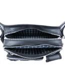 Фотография Черная сумка на пояс из плотной винтажной кожи Tarwa RA-1560-4lx