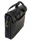 Фотография Мужская черная сумка из телячьей кожи сорта crazy horse Tarwa RA-1812-4lx
