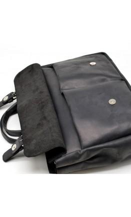 Мужская черная винтажная кожаная деловая сумка Tarwa RA-7107-1md