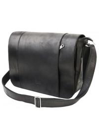 Мужская черная кожаная большая сумка на плечо Tarwa RA-7338-4lx