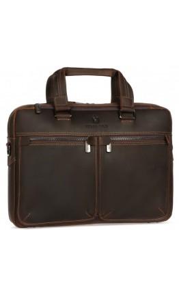 Коричневая деловая винтажная мужская кожаная сумка Royal RB001R