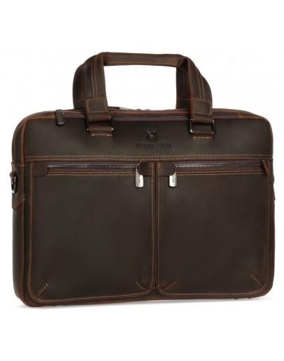 Фотография Коричневая деловая винтажная мужская кожаная сумка Royal RB001R