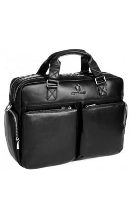 Мужская удобная кожаная черная сумка Royal RB002A