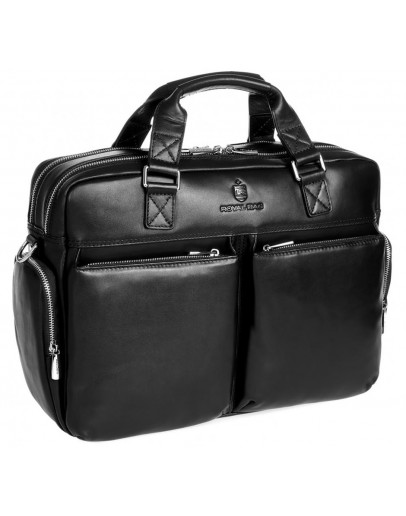 Фотография Мужская удобная кожаная черная сумка Royal RB002A