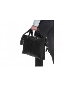 Кожаная черная мужская сумка для ноута и документов Royal RB004A
