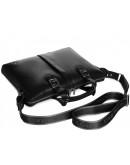 Фотография Кожаная черная мужская сумка для ноута и документов Royal RB004A