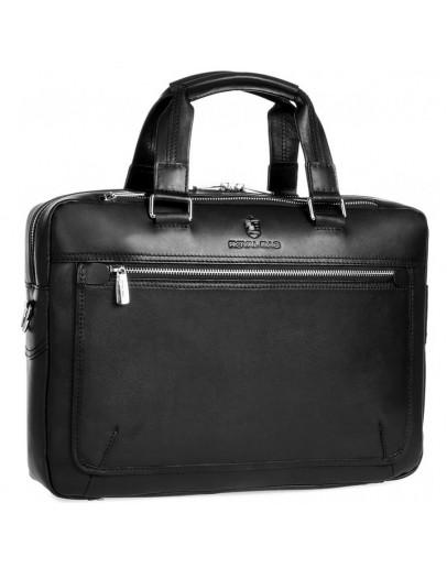 Фотография Мужская черная деловая кожаная сумка Royal RB005A