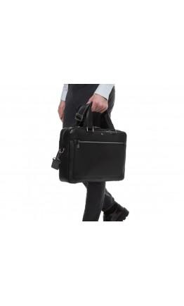 Мужская черная деловая кожаная сумка Royal RB005A