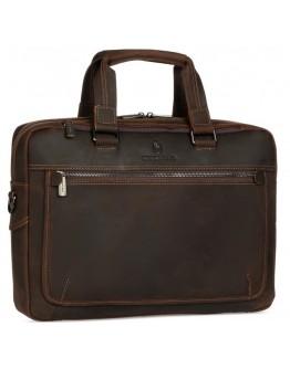 Коричневая мужская деловая кожаная сумка Royal RB005R