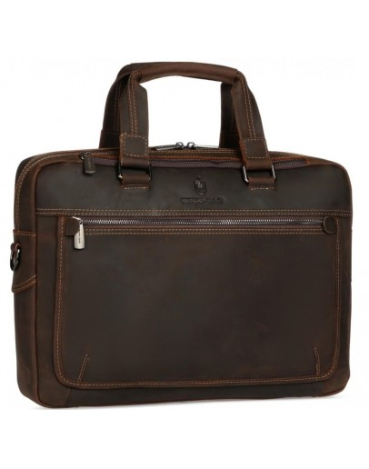 Фотография Коричневая мужская деловая кожаная сумка Royal RB005R