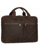 Фотография Винтажная кожаная коричневая мужская деловая сумка Royal RB012R-2
