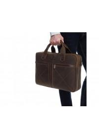 Винтажная кожаная коричневая мужская деловая сумка Royal RB012R-2