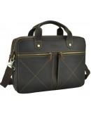 Фотография Коричневая винтажная сумка для ноутбука и документов RB012R