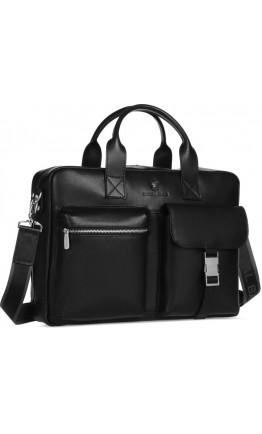 Черная мужская кожаная городская сумка Royal RB058A