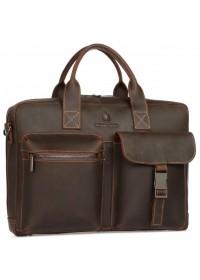 Коричневая кожаная мужская городская сумка Royal RB058R