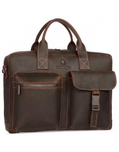 Фотография Коричневая кожаная мужская городская сумка Royal RB058R