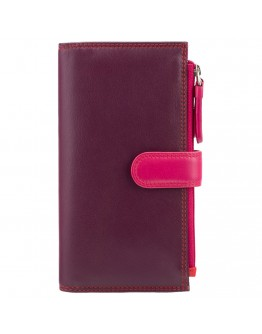 Бордовый кошелек Visconti RB100 Bermuda c RFID (Plum Multi)