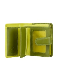 Кошелек лаймового цвета Visconti RB40 Bali c RFID (Lime Multi)