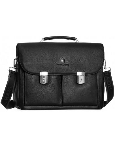 Фотография Мужской кожаный черный деловой портфель Royal RB40041