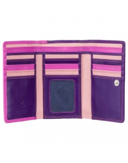 Розовый мужской кошелек Visconti RB43 Bora c RFID (Berry Multi)