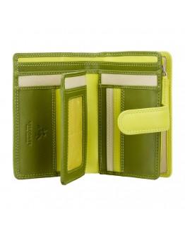 Кошелек лаймового цвета Visconti RB51 Fiji c RFID (Lime Multi)