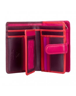 Бордовый кошелек Visconti RB51 Fiji c RFID (Plum Multi)