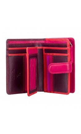 Бордовый кошелек Visconti RB51 Fiji c RFID (Plum Multi)