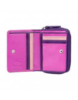 Розовый кошелек Visconti RB53 Hawaii c RFID (Berry Multi)