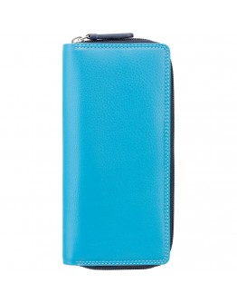 Голубое портмоне Visconti RB55 Honolulu c RFID (Blue Multi)