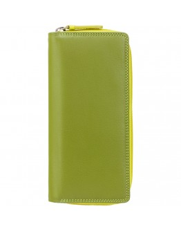 Кошелек лаймового цвета Visconti RB55 Honolulu c RFID (Lime Multi)