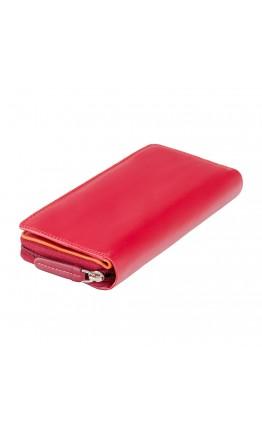 Кожаное женское портмоне Visconti RB55 Honolulu c RFID (Red Multi)