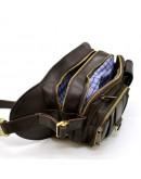 Фотография Коричневая кожаная мужская сумка на пояс Tarwa RC-1560-4lx