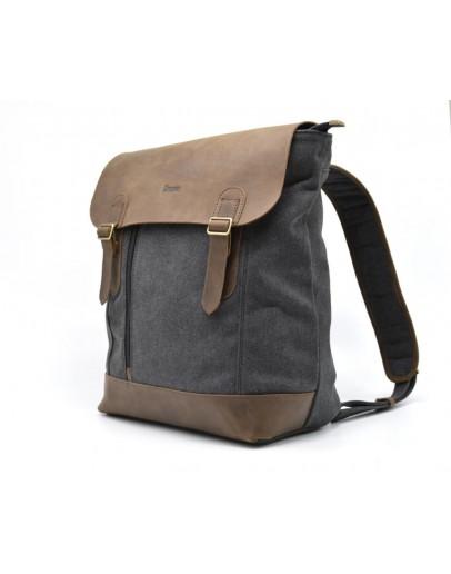 Фотография Серый тканево-кожаный рюкзак Tarwa RC-3880-B