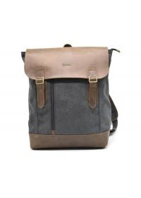Серый тканево-кожаный рюкзак Tarwa RC-3880-B